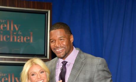 Kelly Ripa and New Co-Host Michael Strahan
