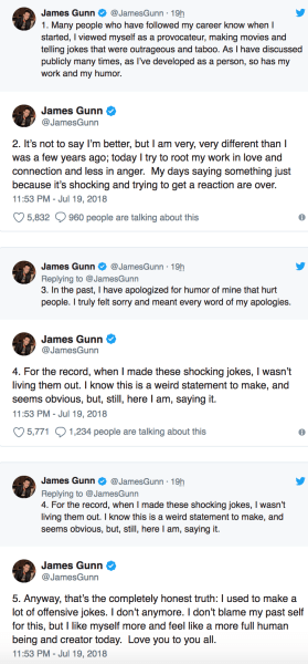 gunn apology