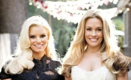 Cacee Cobb Married, Jessica Simpson Pregnant in Cute Wedding Day Photo!