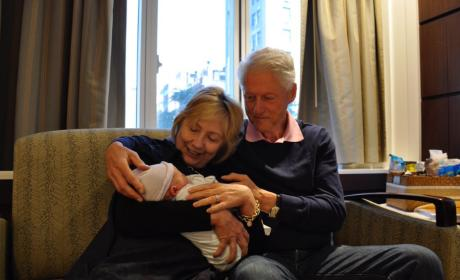 Bill, Hillary and Aidan