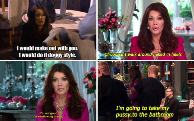 Lisa vanderpump propositions a golden retriever gif