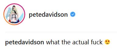 Pete Davidson heart-eyed caption