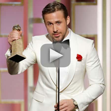 Ryan gosling gushes over eva mendes at golden globes