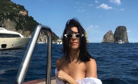 Kourtney Kardashian in Capri