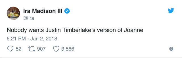 Timberlake album reaction 1