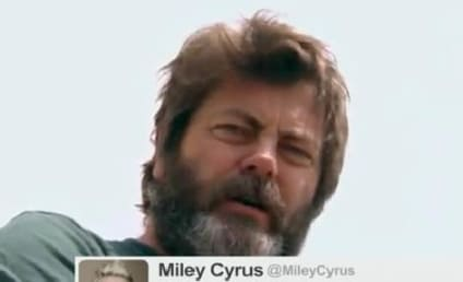 Nick Offerman Reads Tweets From Young Female Celebs, is Not Unhilarious
