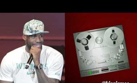 LeBron James Raps
