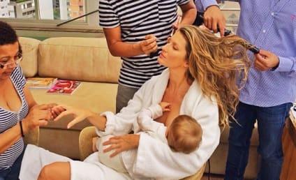 Gisele Bundchen: Breastfeeding and Multitasking!