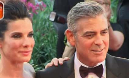 Sandra Bullock and George Clooney Promote Gravity, Travel Coach in Italy