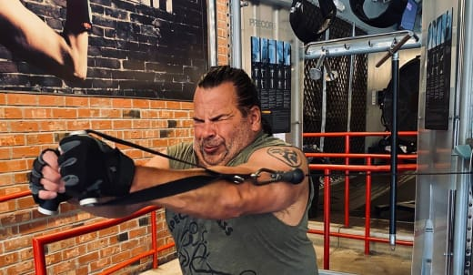 Ed Brown Works Out