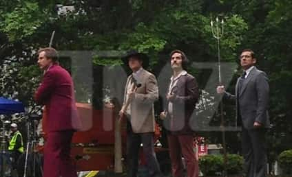 Anchorman 2 Set Photo: The Brawl is Back