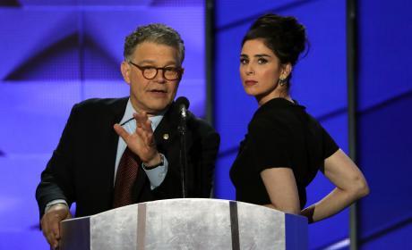 Sarah Silverman and Al Franken