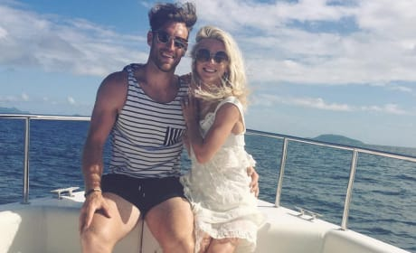 Brooks Laich and Julianne Hough on a Boat