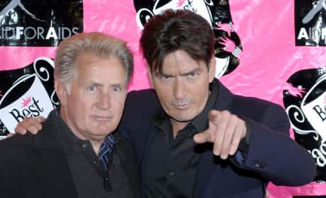 Martin and Charlie Sheen: 2007 Best in Drag AIDS Benefits