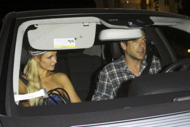 Todd Phillips and Paris Hilton