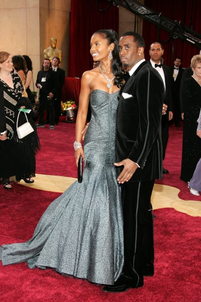Kim Porter and Diddy Image