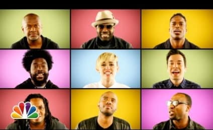 """Miley Cyrus and The Roots Team Up, Go A cappella for """"We Can't Stop"""""""