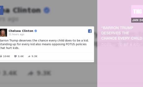 Chelsea Clinton Sticks Up for Barron Trump