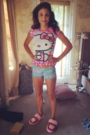 Bethenny Frankel in Daughter's Pajamas