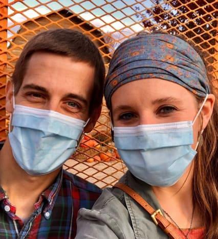 Jill and Derick Mask Up