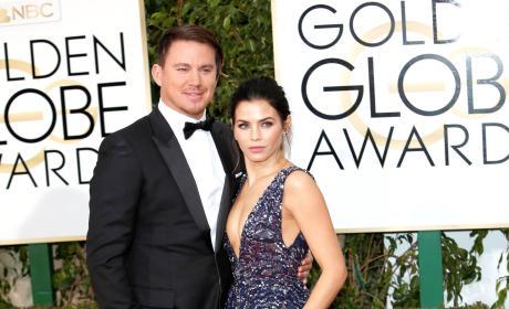 Channing Tatum and Jenna Dewan-Tatum: 73rd Annual Golden Globe Awards
