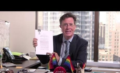 Stephen Colbert Responds to Gay Marriage Ruling