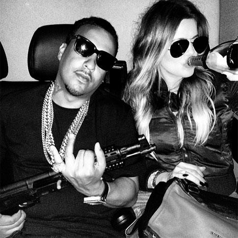Khloe Kardashian Gun Photo