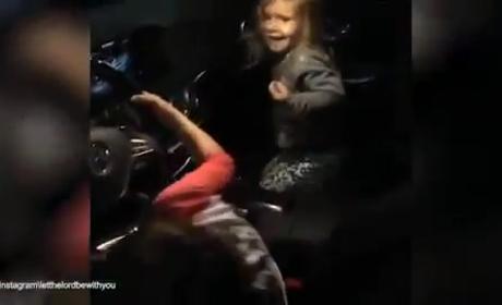 Mason and Penelope Dance to Demi Lovato
