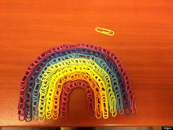 Paper Clipped Rainbow