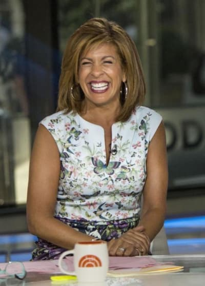 Hoda Kotb on NBC Set