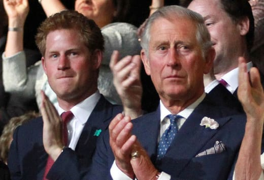 Prince Harry and Prince Charles