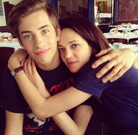 Asia Argento and Jimmy Bennett