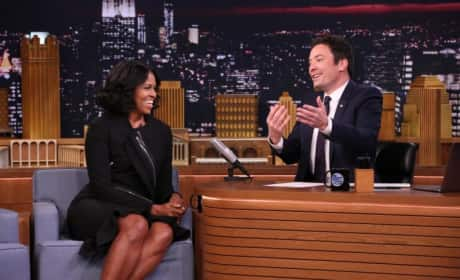 Michelle Obama Nearly Cries, Plays Catchphrase on The Tonight Show