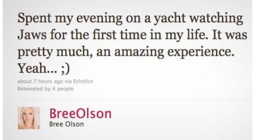 Bree Olson Tweet
