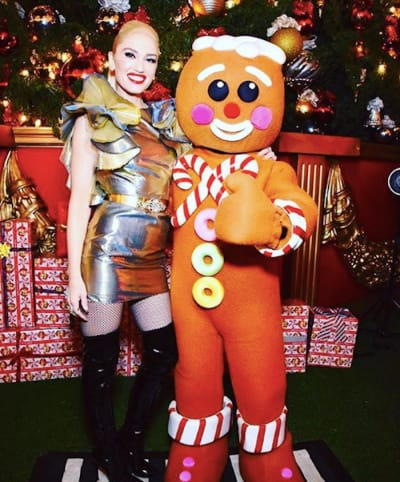 Gwen Stefani with Gingerbread Man