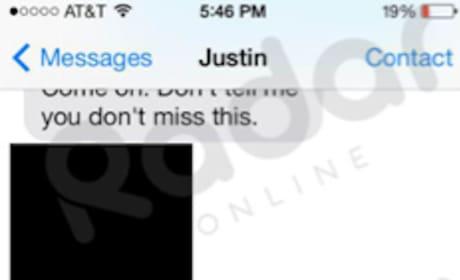 Justin Bieber-Selena Gomez Text #2