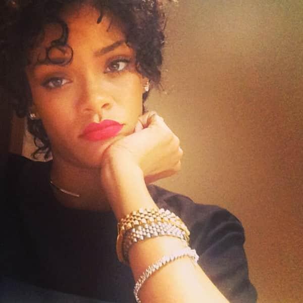 Rihanna, Natural Hair