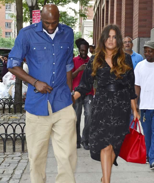 Lamar and Khloe, Looking Sad
