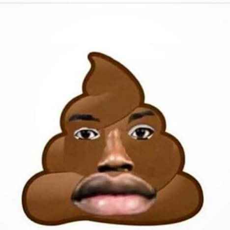 50 Cent Instagram post - poop emoji merged with Meek Mill's face