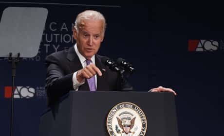 Joe Biden at the Mic