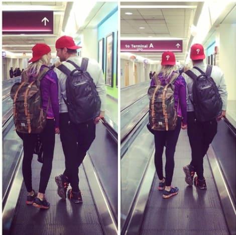 Juan Pablo, Nikki Ferrell Airport Pics
