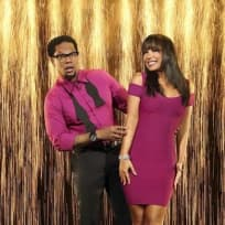 D.L. Hughley and Cheryl Burke
