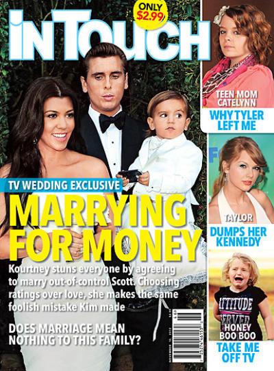 Kourtney Kardashian and Scott Disick Tabloid Cover
