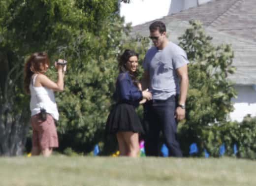 Kim Kardashian at a Cemetery