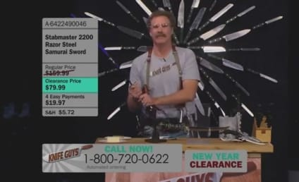 """Will Ferrell, Ryan Gosling """"Knife Guys"""" Show Rudely Preempted By Jimmy Kimmel Live"""