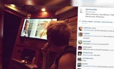 Aaron Carter Creepily Watches Lizzie McGuire