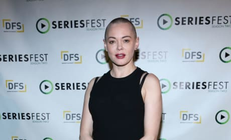 Rose McGowan on a Red Carpet