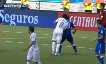 Luis Suarez BITES Italian Opponent: Watch Now!