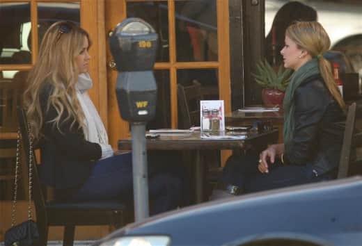 Lauren Conrad and Lo Bosworth Filming The Hills