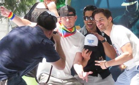 Channing Tatum and Matt Bomer Dance in L.A. Pride Parade